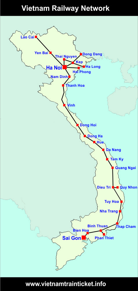 Vietnam Train Map