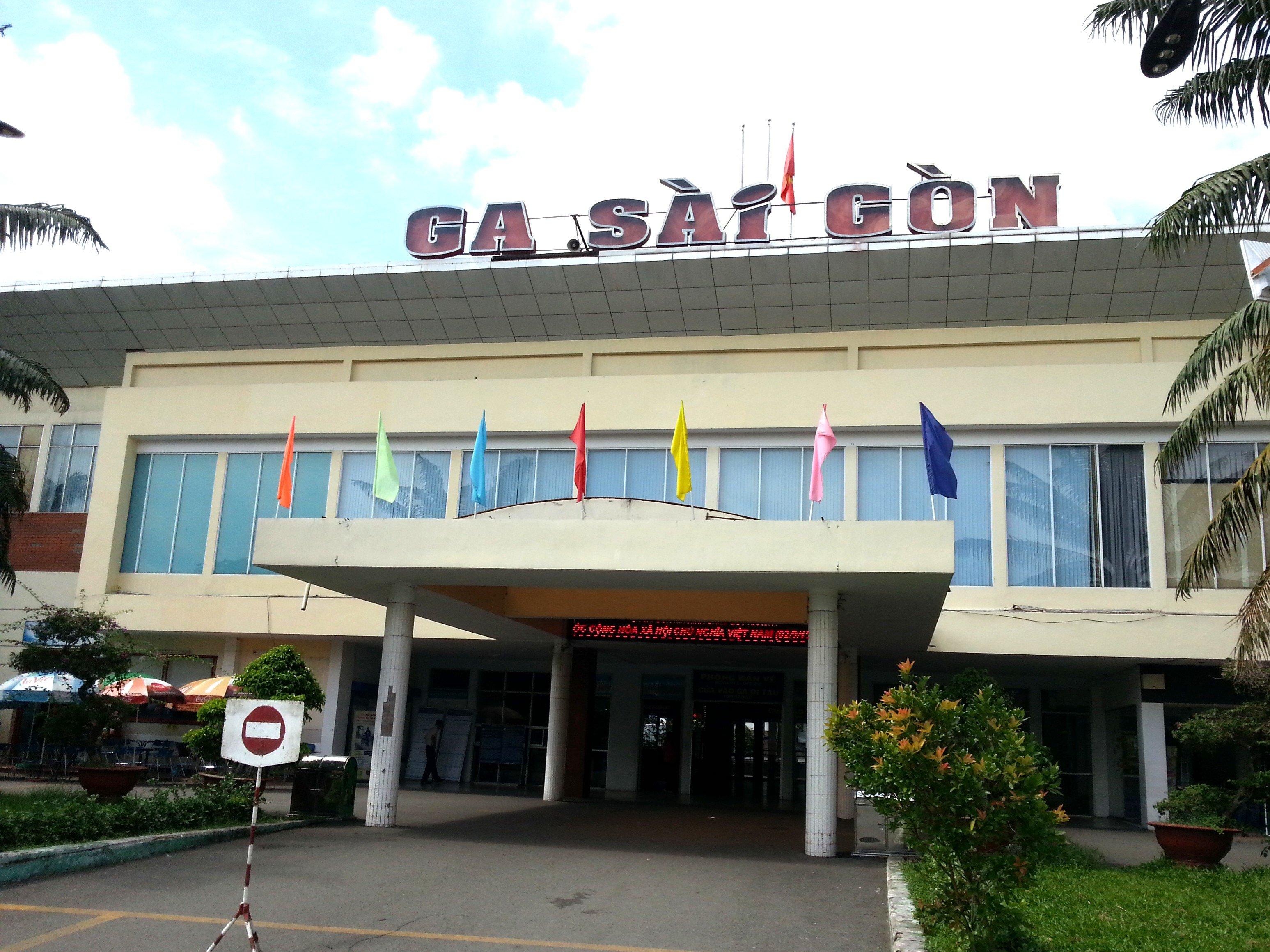 Front entrance to Saigon Railway Station
