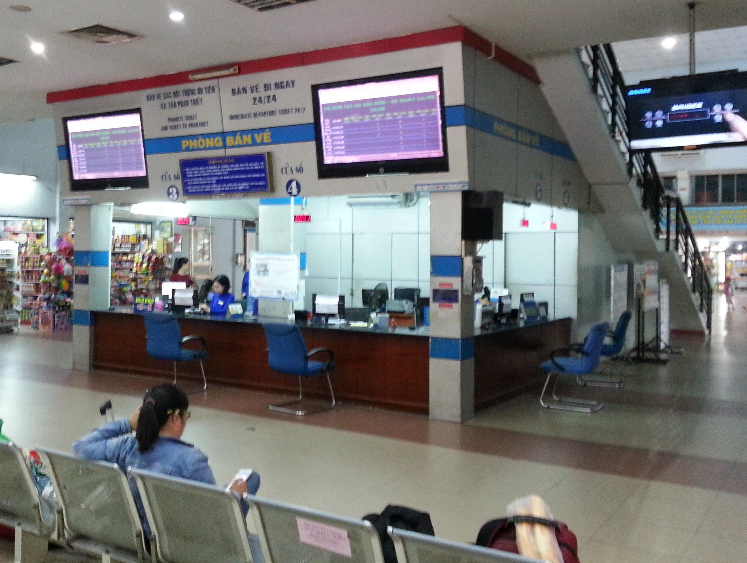 Ticket counter at Saigon Railway Station