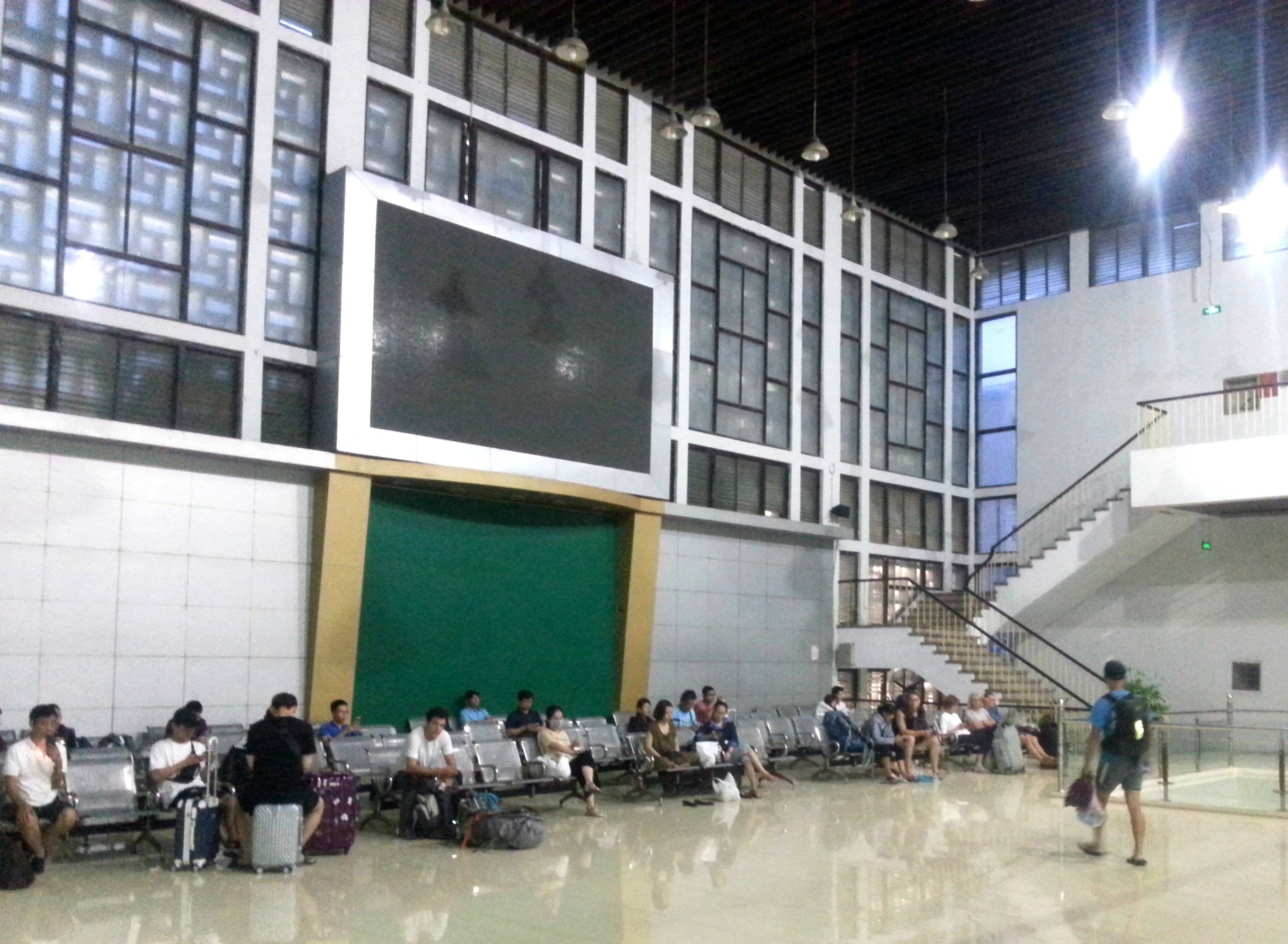 Upstairs waiting area at Hanoi Railway Station