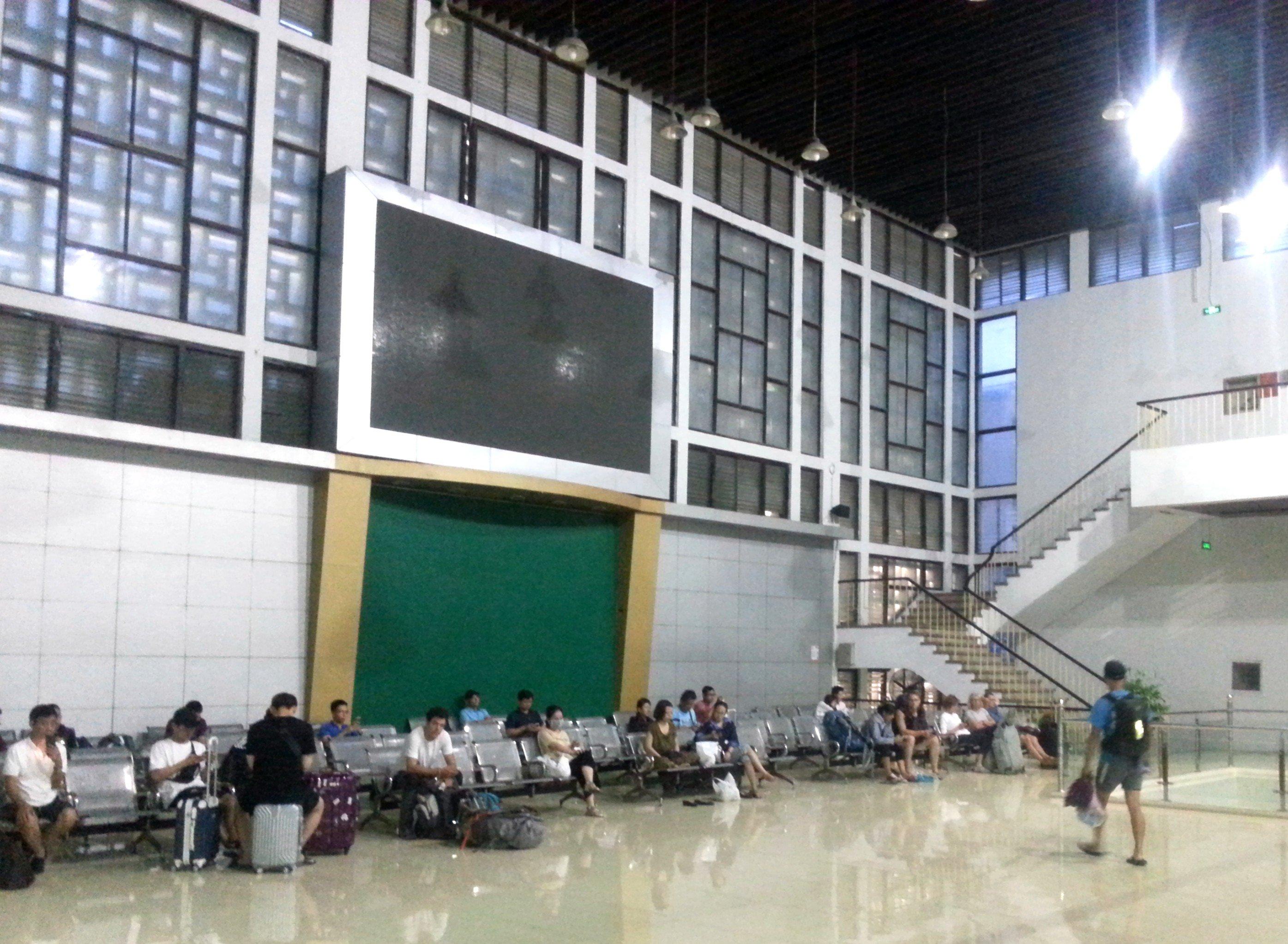 Upstairs waiting area at Hanoi Railway Station