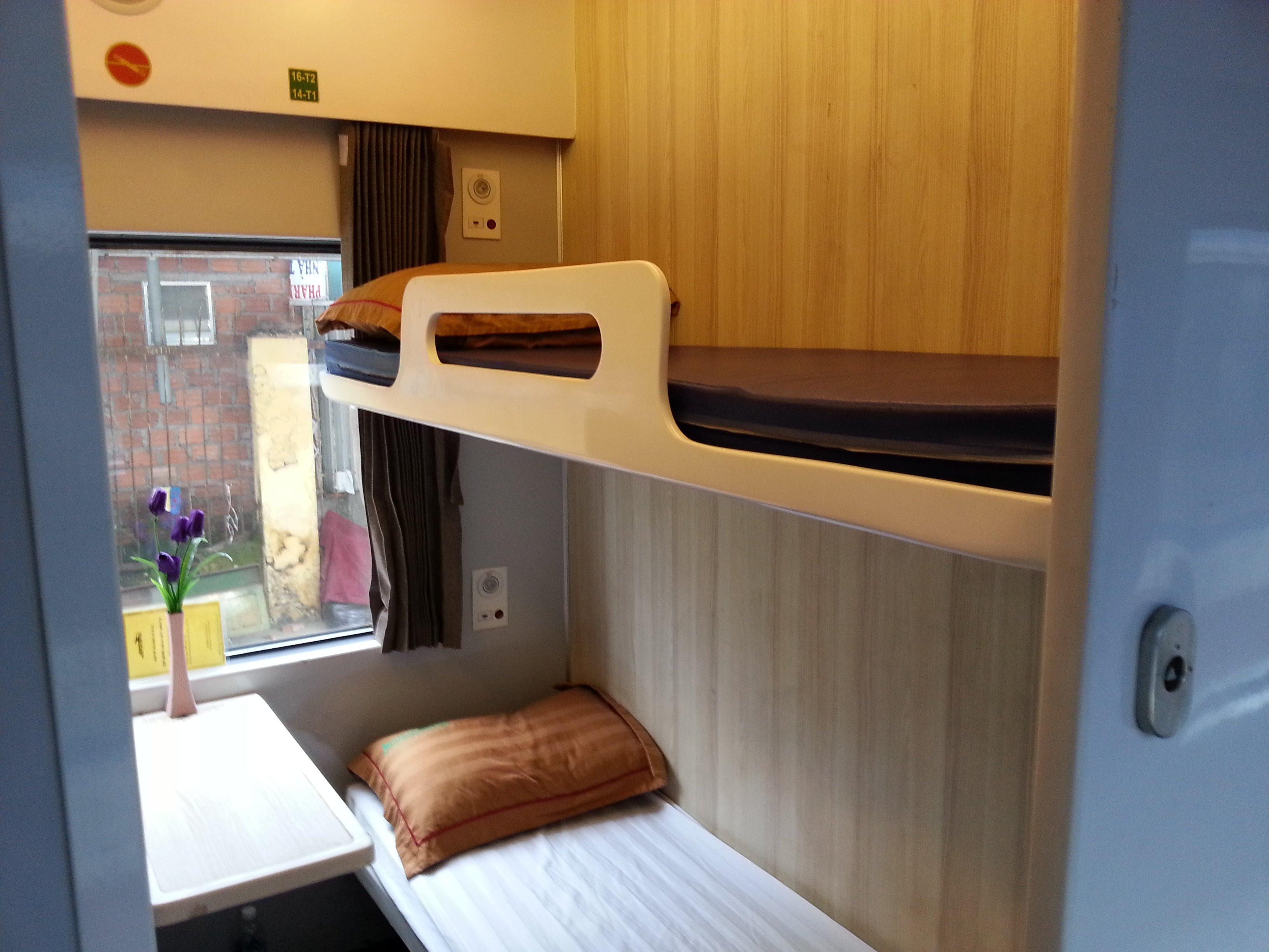 Soft sleeper on a Vietnam Train